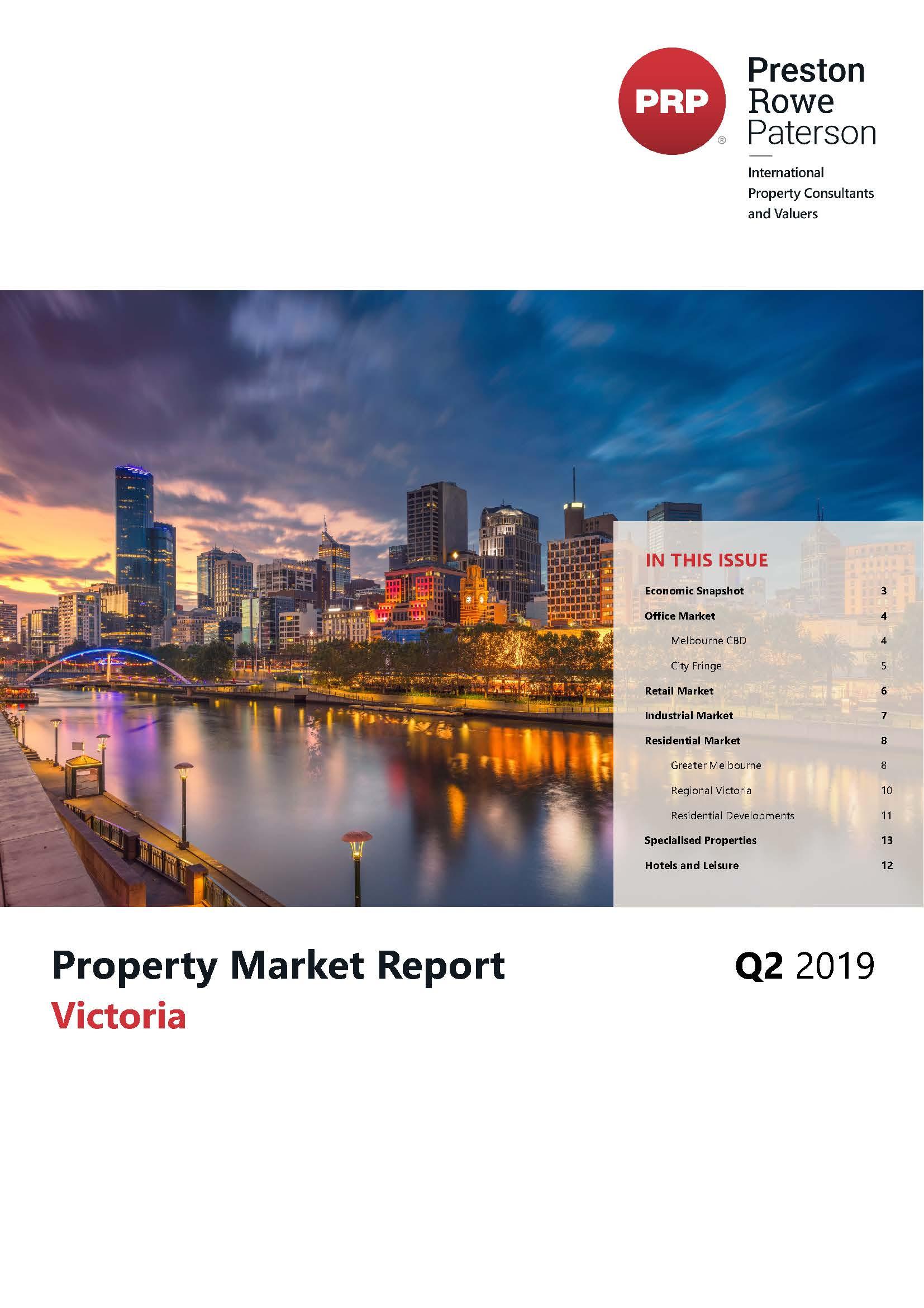 VIC Property Market Report Q2 2019